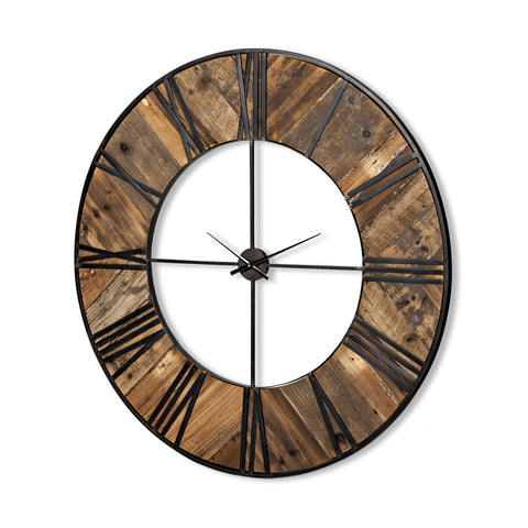 Mercana 67963 Cronos Wall Clock, Brown