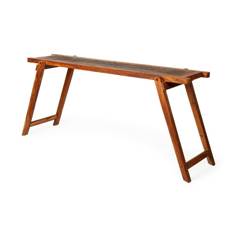 Mercana 67898 Armee IV Console Tables, Brownish Orange,33x58x147.32