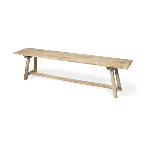 Mercana 67831 Travis Bench, Natural 69x13.5x17.5