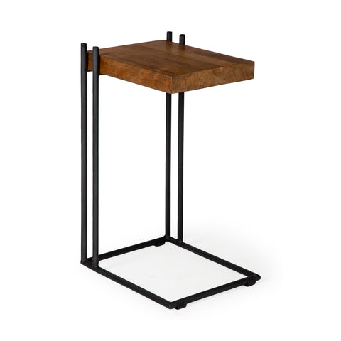 Mercana 67842 Maddox II End and Side Table, Brown and Black