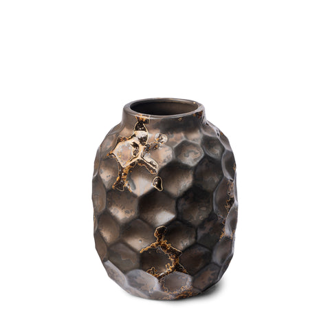Mercana 68022 Pania I (Small) Decorative Vase, Bronze, 6.1x5x12.5