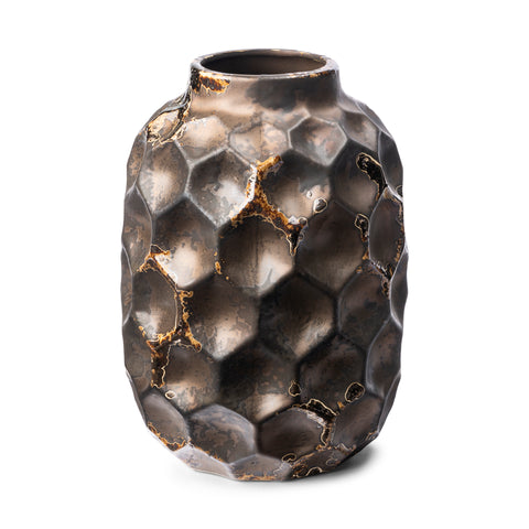 Mercana 68023 Pania II (Large) Decorative Vase, Bronze, 8.3x6.1x15.5