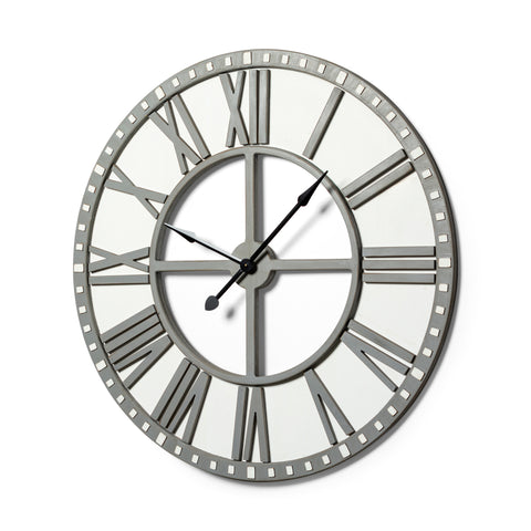 Mercana 68032 Torra Wall Clock, Rustic Gray