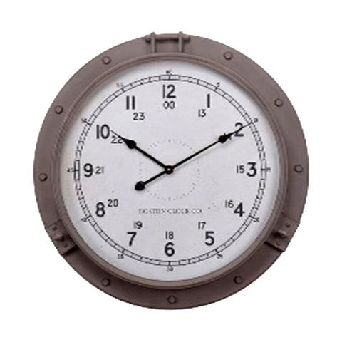 Mercana 68081 Scuttle Wall Clock, Grey, 28.3x28.3x7.11