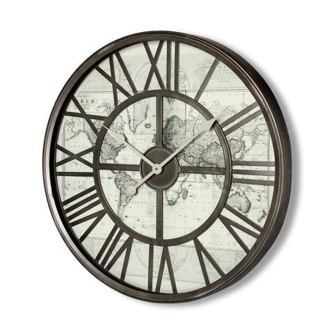 Mercana 68084 Abberley Wall Clock, Metal silver/Gold, 23.5x23.5x6.35