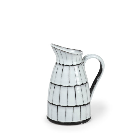 Mercana 68100 Lome (Small) Jar, Black and White, 10x7.7x14.99