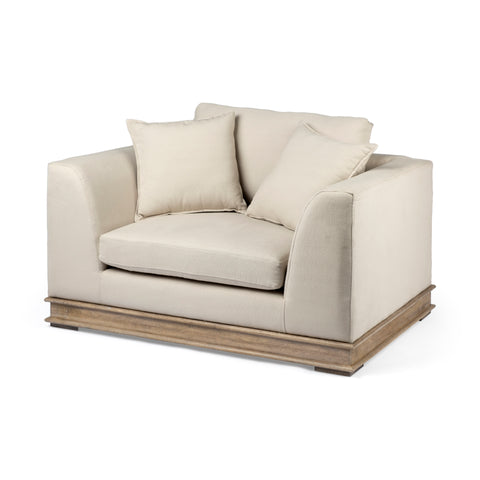 Mercana 68140 Essex I Chair, Light brown/cream