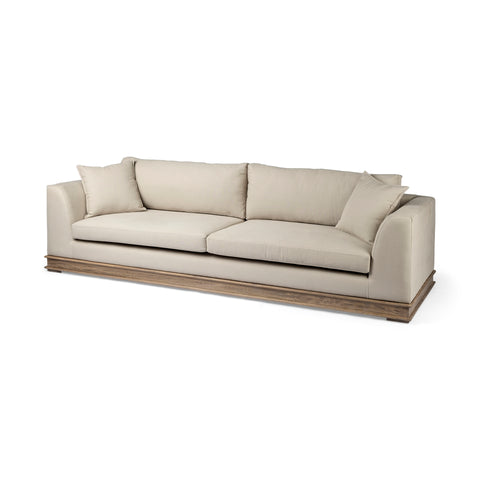 Mercana 68141 Essex II Sofa, Cream Colored