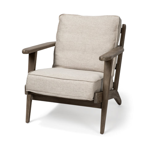 Mercana 68187 Olympus IV Chair, Cream/light honey