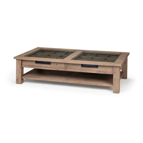 Mercana 68200 Harrelson I Coffee Table, natural brown