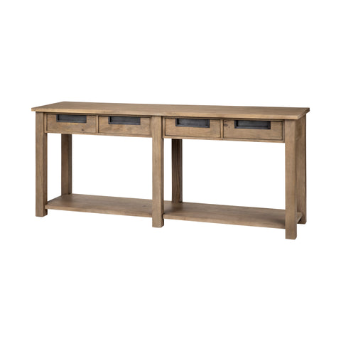 Mercana 68205 Michael II Console Tables, Grey,30x72x45.72