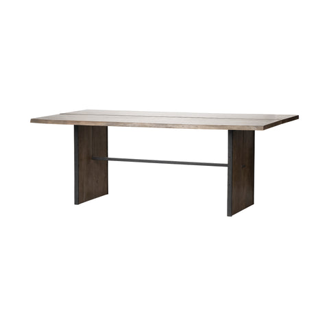 Mercana 68244 Ledger III Dining Table, Light and Dark Brown, 30x84x96.52