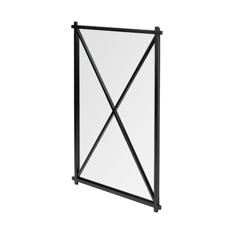 Mercana 68259 Stewart Wall Mirror, Matte Black