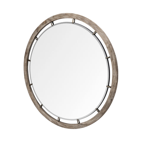 Mercana 68260 Sonance Wall Mirror, Brown, 46.0L x 1.0W x 46.0H