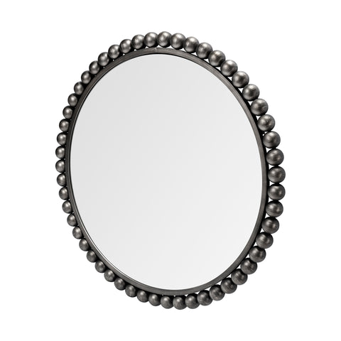Mercana 68262 Orbit I (Large) Mirror, Brushed Silver, 43.0L x 2.5W x 43.0H