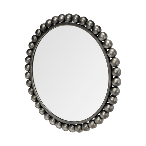 Mercana 68263 Orbit I (Medium) Mirror, Brushed Silver,  33.0L x 2.5W x 33.0H