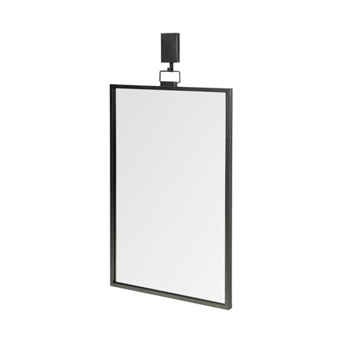 Mercana 68296 Grimm Wall Mirror, Black, 24.0L x 1.2W x 43.8H