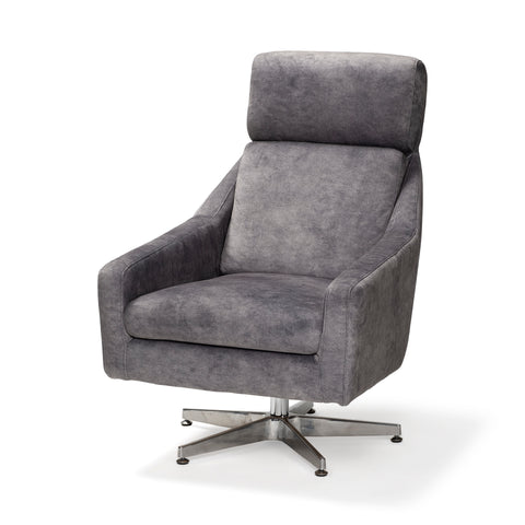 Mercana 68303 Abbott I Chair, Grey/silver