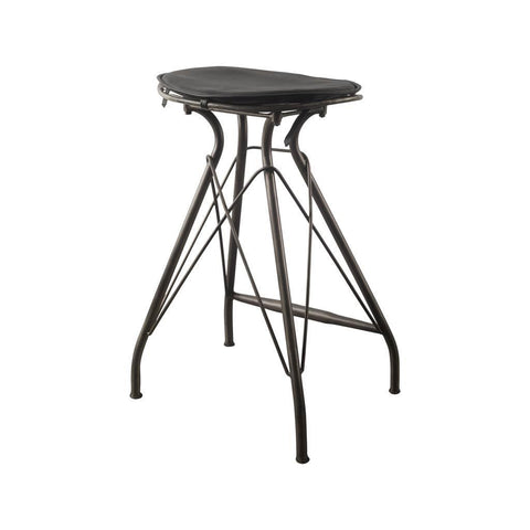 Mercana 50486 Orville III Bar Stool, Black, 25x18.5x16 - The Modern Farmhouse