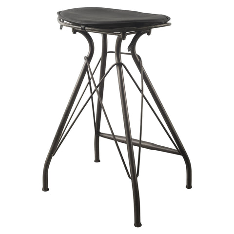 Mercana 50487 Orville IV Bar Stool, Black, 31x18.5x16 - The Modern Farmhouse