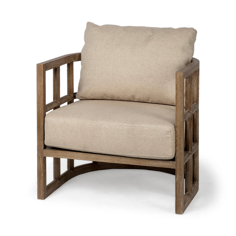 Mercana 67515 Skylar II Chair, Beige and Brown
