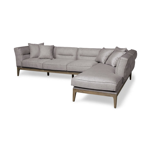 Mercana 68180-AB Denali I (Box A&B Right) Sectional, Grey/rustic brown