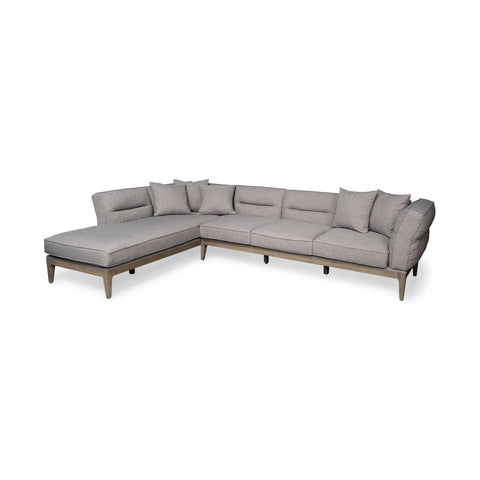 Mercana 68181-AB Denali II (Box A&B Left) Sectional, Grey/rustic brown