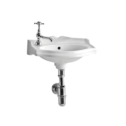 Whitehaus AR035L-C White Porcelain Rectangular Wallmount Bathroom Basin Sink - The Modern Farmhouse