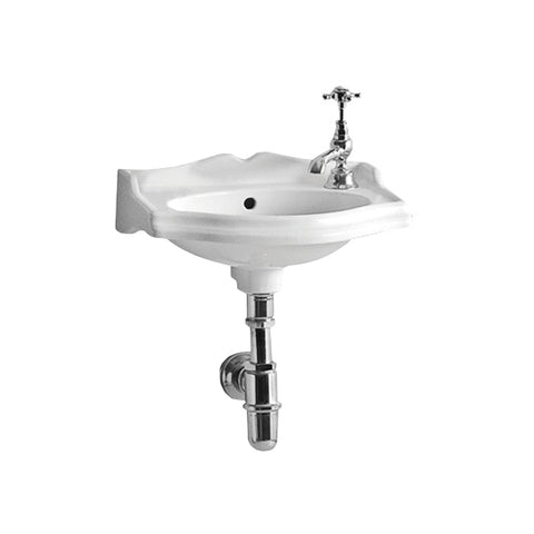 Whitehaus AR035R-C White Porcelain Rectangular Wallmount Bathroom Basin Sink - The Modern Farmhouse