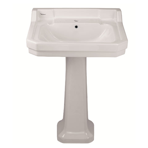 Whitehaus B112L-P Traditional Pedestal w/ Integrated Bowl and Rear Overflow - The Modern Farmhouse
