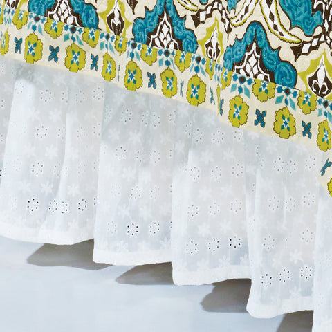 HiEnd Accents Eyelet Bedskirt