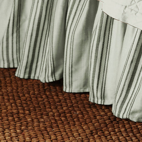 "HiEnd Accents Prescott Strip Bedskirt, 17"" Drop,Taupe"