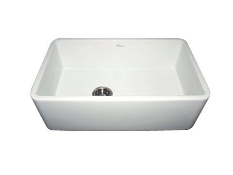 Whitehaus WH3018 Single Bowl Fireclay Farmhouse Apron Front Kitchen Sink - The Modern Farmhouse