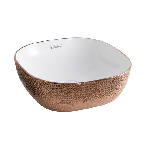 Whitehaus WH71301-F23 Square Basin w/ Embossed Exterior And Smooth Interior - The Modern Farmhouse
