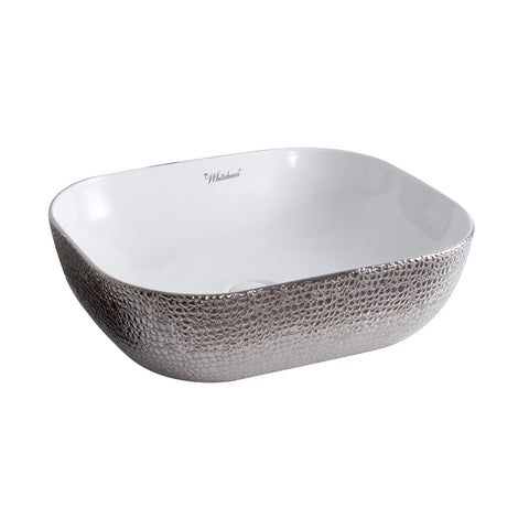 Whitehaus WH71302-F21 Ceramic Sink w/ Embossed Exterior And Smooth Interior - The Modern Farmhouse