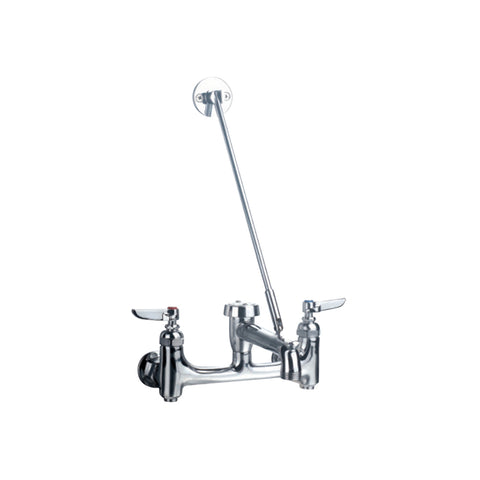 Whitehaus WHFSB980-C Wall Mount Service Sink Faucet with Support Bracket - The Modern Farmhouse