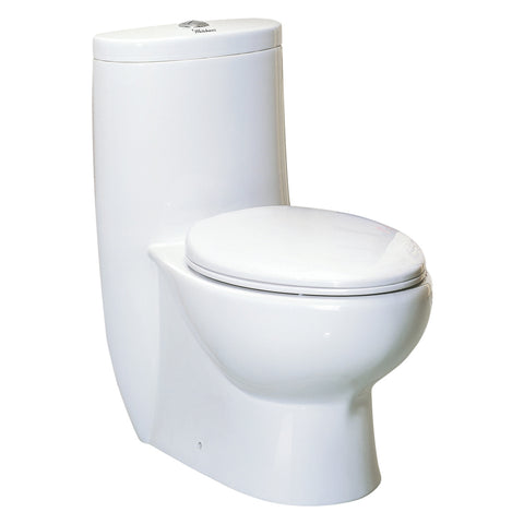Whitehaus WHMFL3309-EB Magic Dual Flush One Piece Elongated Toilet - The Modern Farmhouse