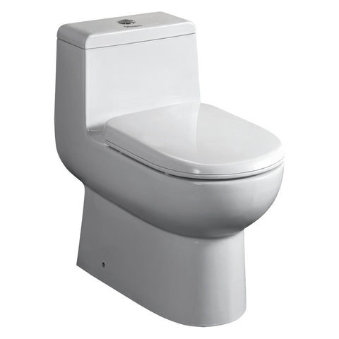Whitehaus WHMFL3351-EB Magic Dual Siphonic Flush One Piece Toilet - The Modern Farmhouse