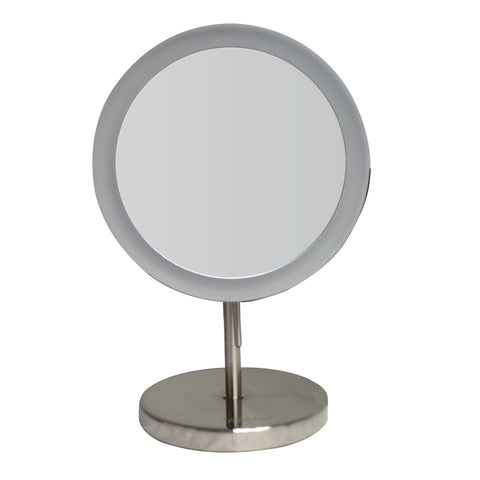 Whitehaus WHMR106 Round Freestanding Led 5X Magnified Mirror - The Modern Farmhouse