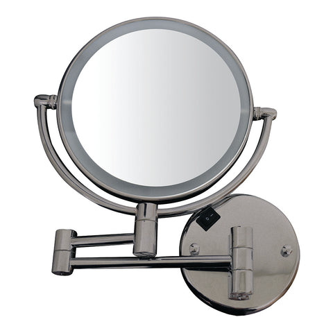 Whitehaus WHMR912 Round Wall Mount Dual Led 7X Magnified Mirror - The Modern Farmhouse
