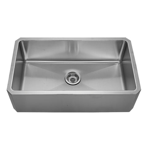 "Whitehaus WHNAP3218 32"" Stainless Steel Apron Undermount Kitchen Sink - The Modern Farmhouse"