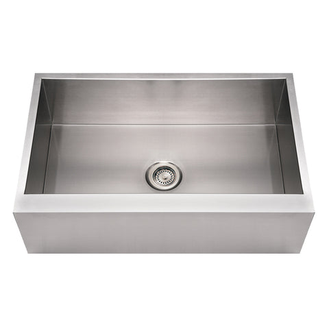 "Whitehaus WHNCMAP3321 Steel 33"" Single Bowl Apron Front Kitchen Sink - The Modern Farmhouse"