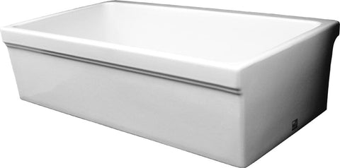Whitehaus WHQ530 Single Bowl Fireclay 30'' Farmhouse Apron Kitchen Sink - The Modern Farmhouse