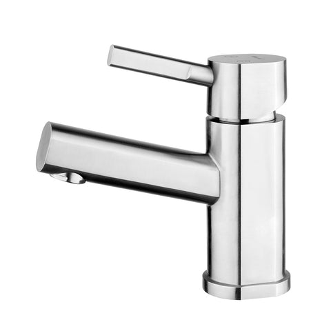 Whitehaus WHS0311-SB-BSS Waterhaus Single Hole Single Lever Lavatory Faucet - The Modern Farmhouse
