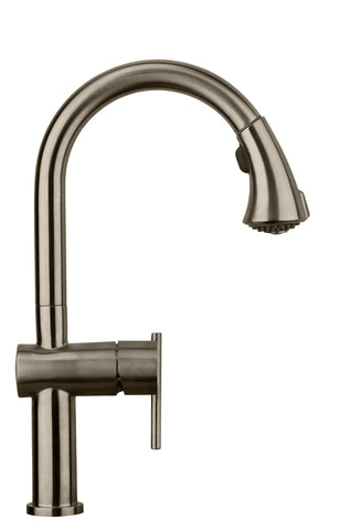 Whitehaus WHS1971-SK Waterhaus S. Steel Faucet with Pull Down Spray Head - The Modern Farmhouse