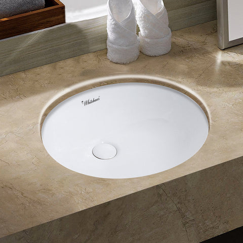"Whitehaus WHU71001 16"" Undermount Basin w/ Overflow And Rear Center Drain - The Modern Farmhouse"