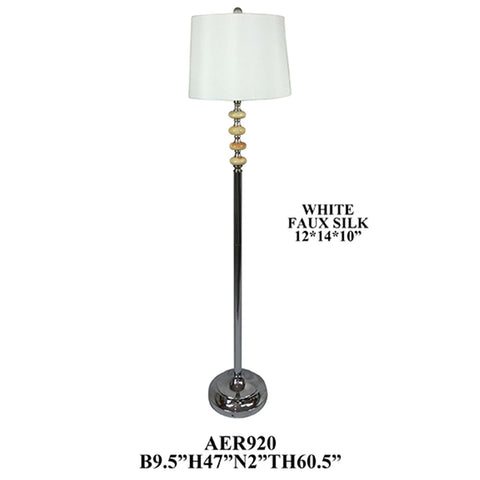 "Crestview Collection AER920CH Metal and Marble Ball Floor Lamp ,2 Pieces , 60""H - The Modern Farmhouse"