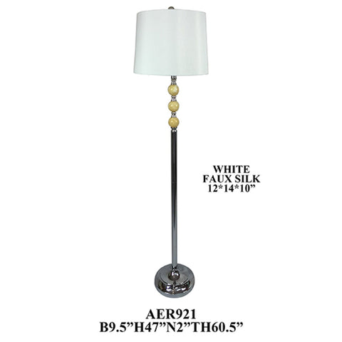 "Crestview Collection AER921CH Metal and Marble Ball Floor Lamp ,2 Pieces , 60""H - The Modern Farmhouse"