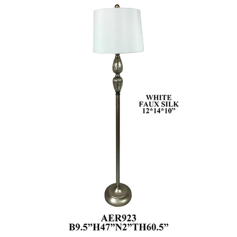 "Crestview Collection AER923SLF Metal and Glass Floor Lamp, 2 Pieces , 60""H - The Modern Farmhouse"