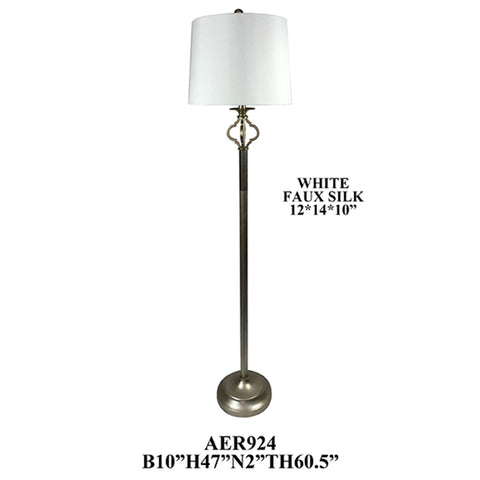 "Crestview Collection AER924SLF Metal and Poly Floor Lamp, 2 PCS , 60""H - The Modern Farmhouse"